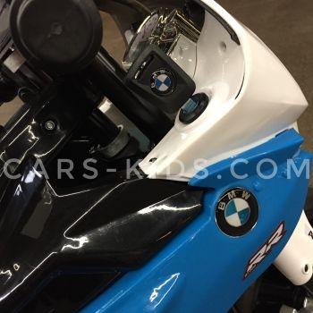 Электромобиль мотоцикл BMW S1000PR (резина, страховочные колеса, музыка, свет фар)