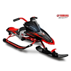 Снегокат Yamaha, лицензионный красный (свет фар, мягкое кресло, тормоз, трос, удобные ручки)
